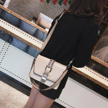 Simple Fashion Rivets Small Bag Shoulder Messenger Small Square Package - OFF WHITE