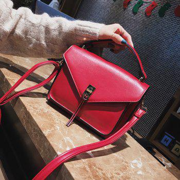 Wild Fashion Small Square Bag Handbag Wide Shoulder Strap Messenger Bag -  RED