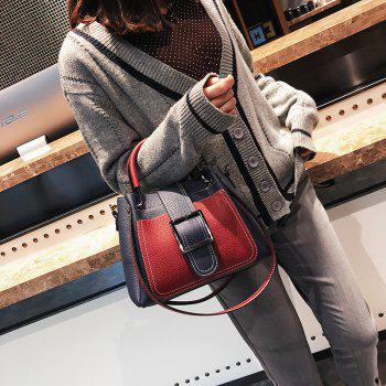 Simple and Fashionable Wild Messenger Bucket Handbag Portable Shoulder Bag - BLUE
