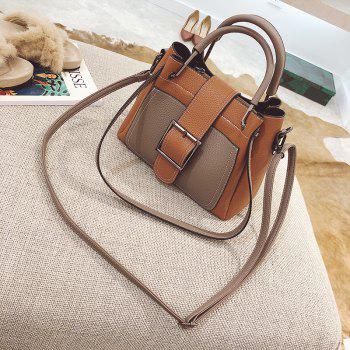 Simple and Fashionable Wild Messenger Bucket Handbag Portable Shoulder Bag - BROWN