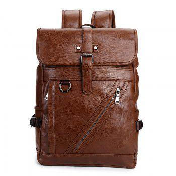 Leather Large Capacity Shoulder Backpack Fashion Outdoor