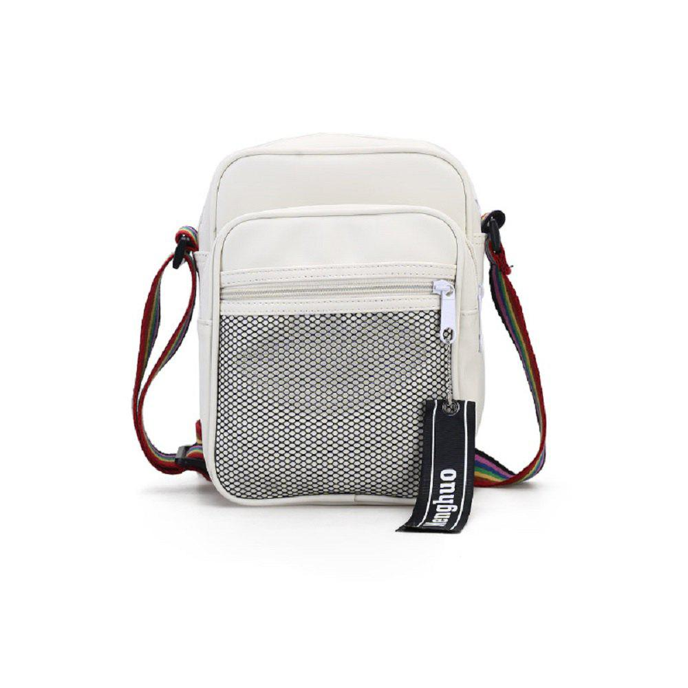 Fashion Slanted Shoulder Bag - WHITE