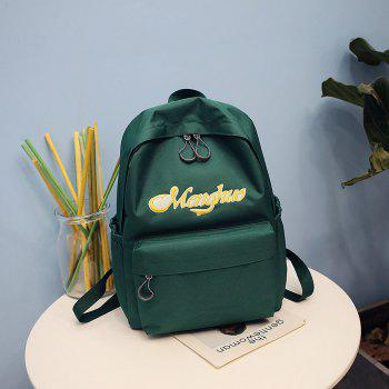 Embroidery Letters  Canvas Backpack - IVY