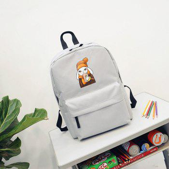 Menghuo 2018 Simple Canvas Backpack Students School Bag Women Girl Rucksack Mochila - GRAY