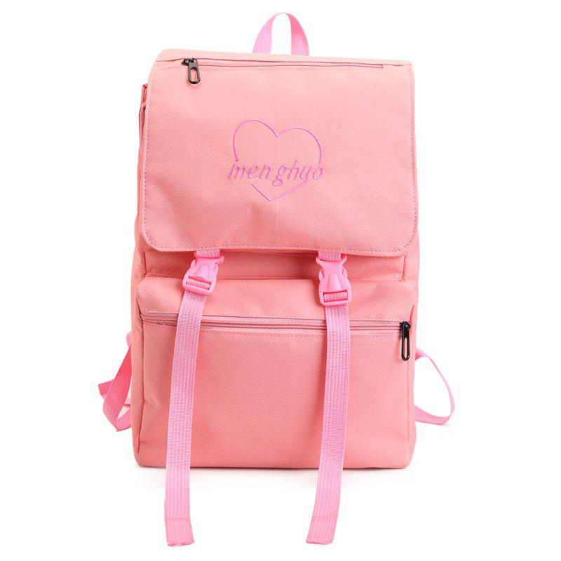 MENGHUO 2018 High-capacity Literature  Art fan Backpack Women Bag - PINK