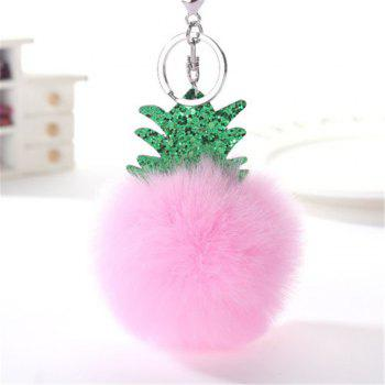 Fashion Small Pineapple Cartoon Plush Pendant New Key Chain Toys - PINK PINK