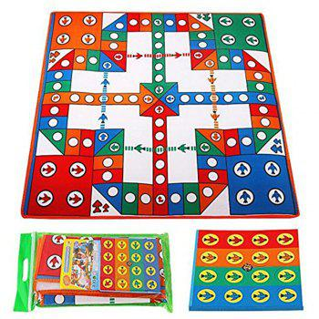 Flying Chess Game Blanket Parent-child Interaction Toy - COLOUR COLOUR