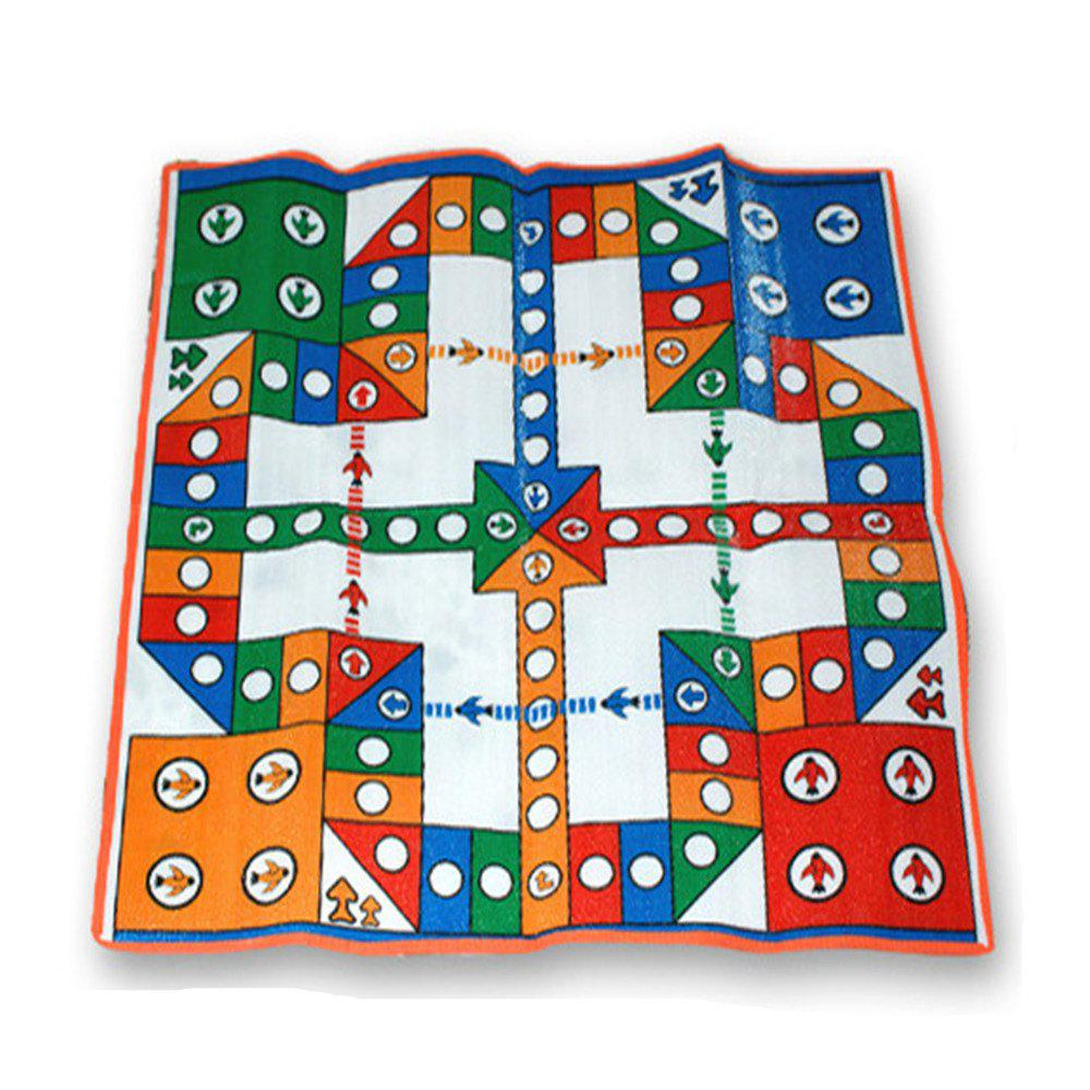Flying Chess Game Blanket Parent-child Interaction Toy - COLOUR
