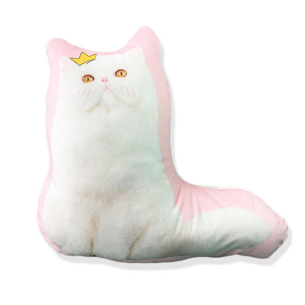 3D CartoonCat Pillow Decorated Bedroom Sofa Cushions - PINK 45X42CM