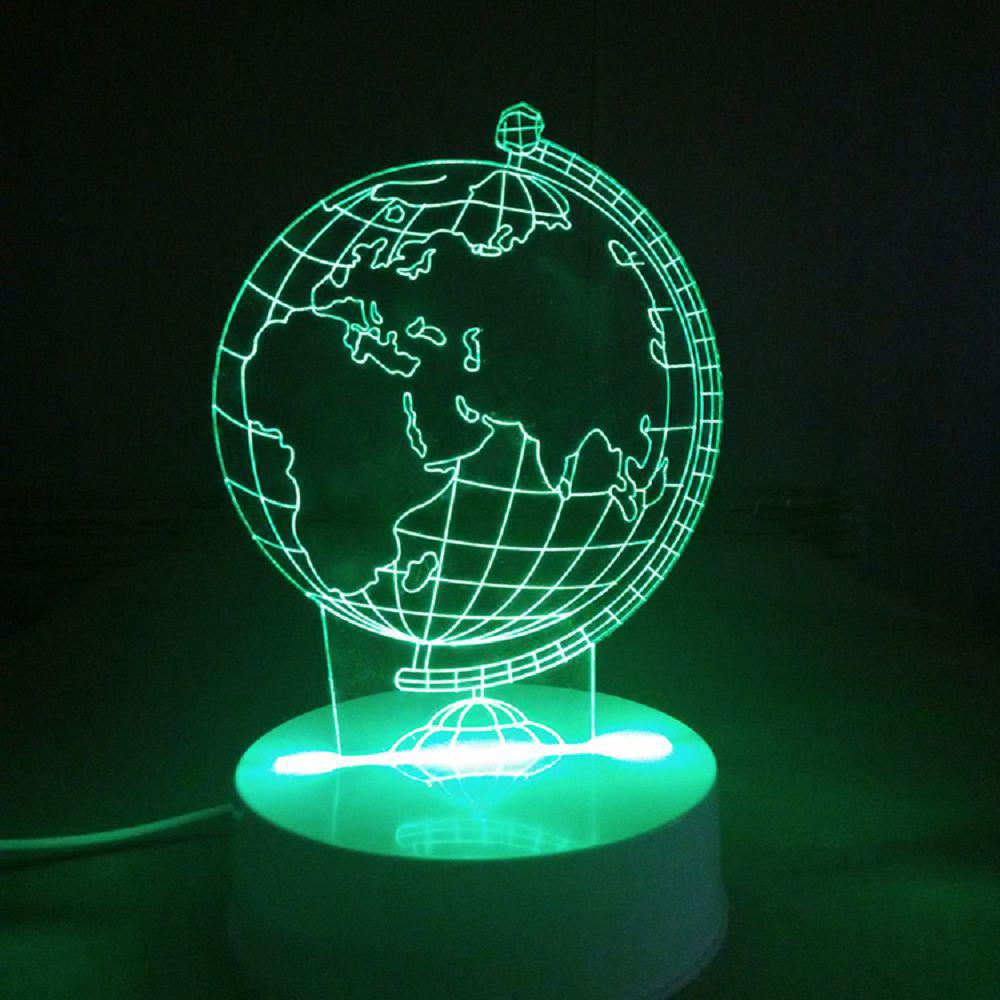 2018 3d optical illusion sculpture lights in 7 colors 3d remote 3d optical illusion sculpture lights in 7 colors 3d remote earth shape globe world map table gumiabroncs Image collections