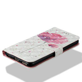 Case For Xiaomi 5X A Flower 3D Painted PU Leather Phone Case - COLORMIX