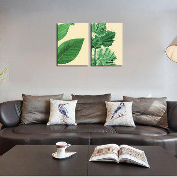 QiaoJiaHuaYuan The Frame of the Frame of Unframed Canvas is Decorated With Small and Fresh Plant Leaves -  COLORMIX