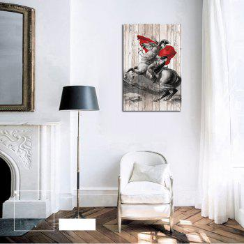 QiaoJiaHuaYuan No Frame Canvas Living Room Sofa Background art Decapitation Hangs a Horse Riding Warrior - COLORMIX