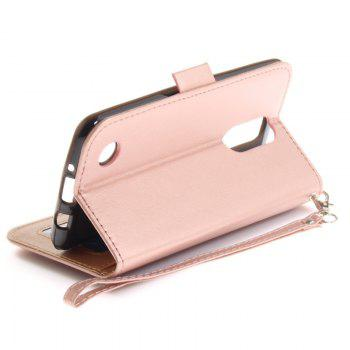 Cover Case for LG LV3 Make Butterfly PU+TPU Leather with Stand and Card Slots Magnetic Closure - ROSE GOLD