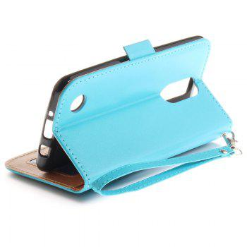 Cover Case for LG LV3 Make Butterfly PU+TPU Leather with Stand and Card Slots Magnetic Closure - WINDSOR BLUE