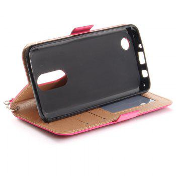 Cover Case for LG LV3 Make Butterfly PU+TPU Leather with Stand and Card Slots Magnetic Closure - SANGRIA
