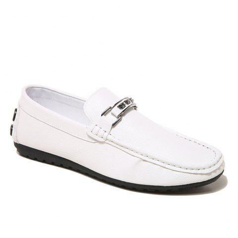 Low Heel Business Casual Shoes - WHITE 42