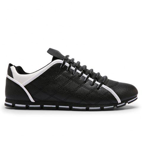 Men'S Low Heel New Fashion British Style Casual Shoes - BLACK 39