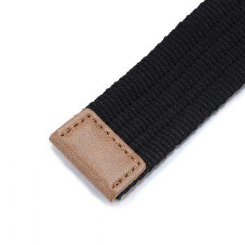 Double loop canvas belt and outdoor leisure cloth belt for young students all-match Fashion Jeans Belt -  GREY