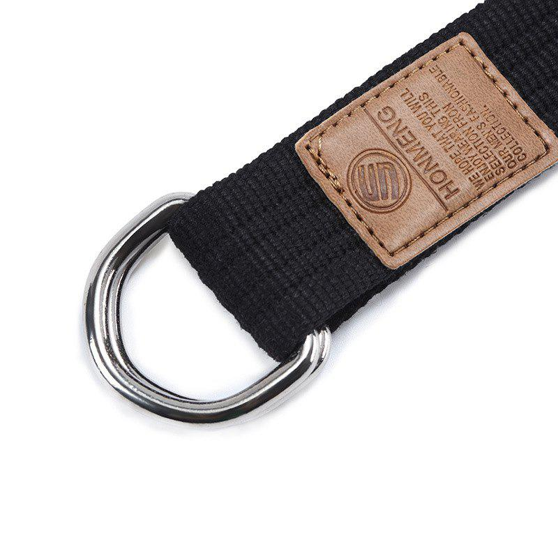 Double loop canvas belt and outdoor leisure cloth belt for young students all-match Fashion Jeans Belt - ROSE RED