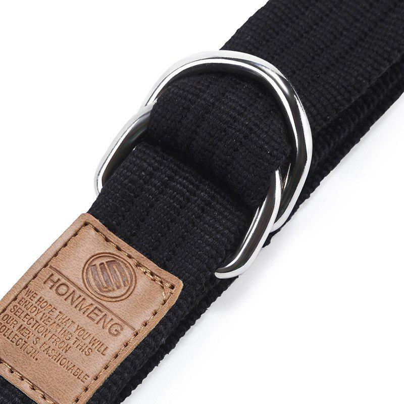 Double loop canvas belt and outdoor leisure cloth belt for young students all-match Fashion Jeans Belt - DARK KHAKI