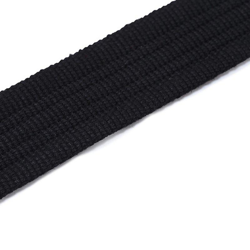 Double loop canvas belt and outdoor leisure cloth belt for young students all-match Fashion Jeans Belt - BLACK