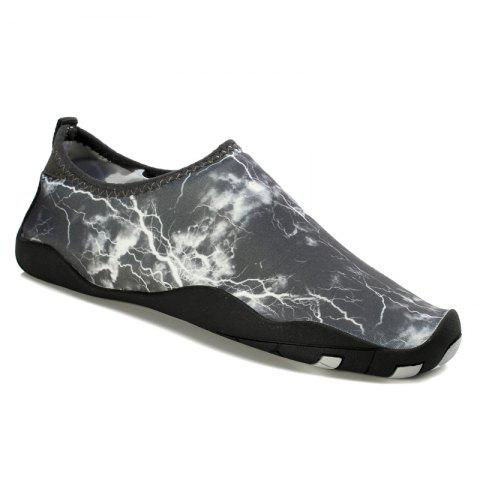Men Casual Trend for Fashion Hiking Outdoor Sport Flat Water Slip on Shoes - GRAY 38