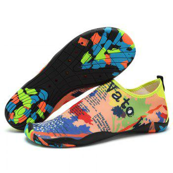 Men Casual Trend for Fashion Hiking Outdoor Sport Flat Slip on Water Shoes - COLOUR 46