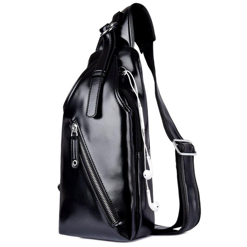 Fashion and New Business Men'S Chest Bag Lovers Backpack - BLACK SINGLE CODE