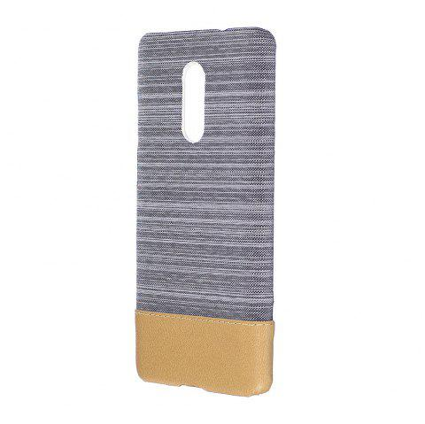 Cover Case for Redmi Note 4X / 4 Jeans Canvas Luxury PU Leather Skin Back Bag Fashion Dual Color - LIGHT GRAY