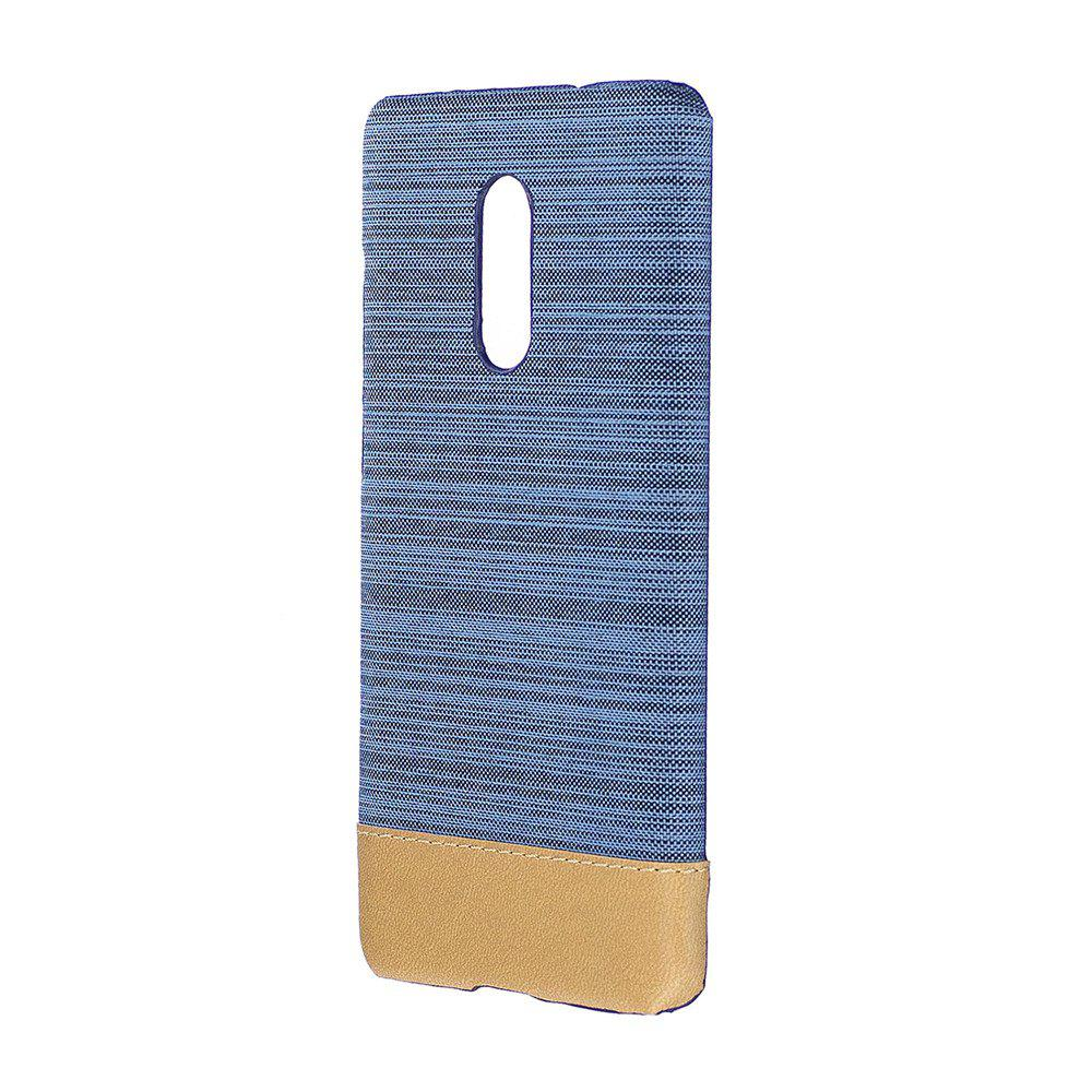 Cover Case for Redmi Note 4X / 4 Jeans Canvas Luxury PU Leather Skin Back Bag Fashion Dual Color - LIGHT BLUE