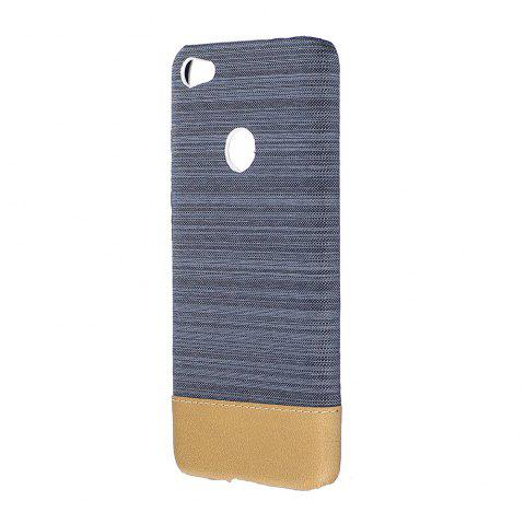 Cover Case for Redmi 4X Jeans Canvas Luxury PU Leather Skin Back Bag Fashion Dual Color - GRAY