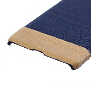 Cover Case for Redmi 4X Jeans Canvas Luxury PU Leather Skin Back Bag Fashion Dual Color - DEEP BLUE