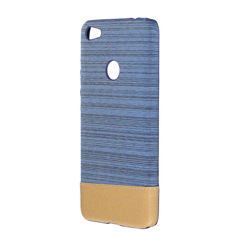 Cover Case for Redmi 4X Jeans Canvas Luxury PU Leather Skin Back Bag Fashion Dual Color - LIGHT BLUE