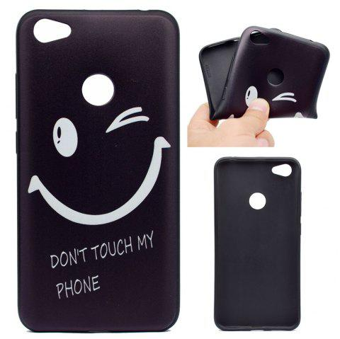 TPU Soft Case for Xiaomi Redmi Note 5A Pro Smiling Face Pattern - BLACK