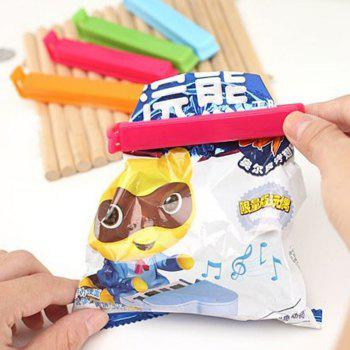 5PCS Food Snack Storage Seal Sealing Bag Clips Sealer Clamp Plastic Keeping Food Fresh Sealing Clips Kitchen Tools - COLORMIX COLORMIX
