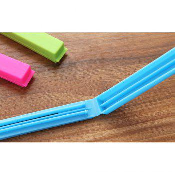 5PCS Food Snack Storage Seal Sealing Bag Clips Sealer Clamp Plastic Keeping Food Fresh Sealing Clips Kitchen Tools - COLORMIX