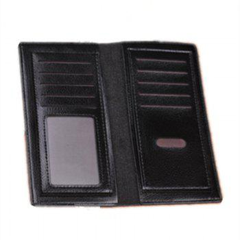 Business Card Holder Pu Leather Men Wallets - BROWN