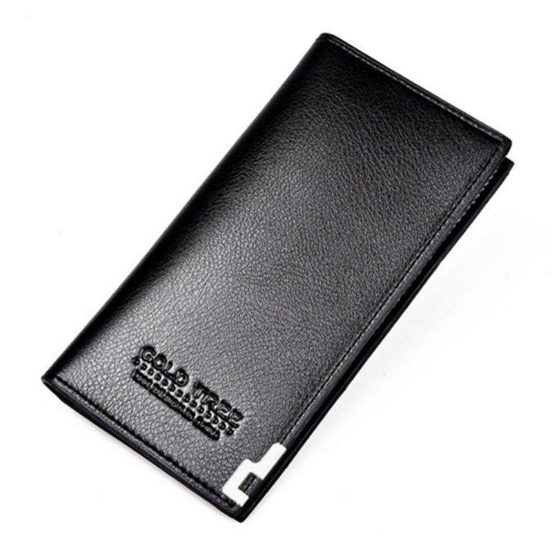 Business Card Holder Pu Leather Men Wallets - BLACKS