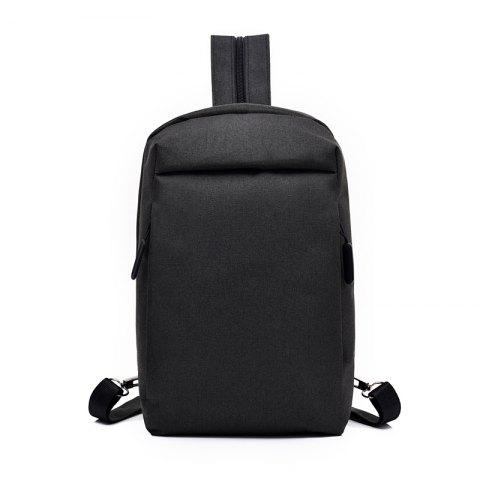 Convenient Chest Diagonal Package Multi-Functional Wear Backpack - BLACK