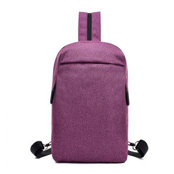 Convenient Chest Diagonal Package Multi-Functional Wear Backpack - PURPLE PURPLE