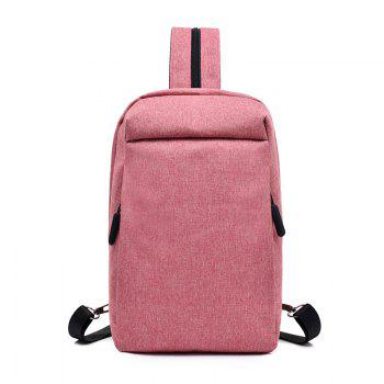 Convenient Chest Diagonal Package Multi-Functional Wear Backpack - PINK PINK