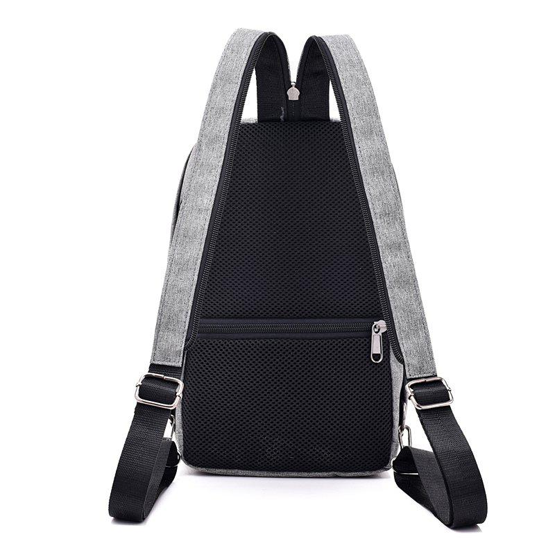Convenient Chest Diagonal Package Multi-Functional Wear Backpack - GRAY
