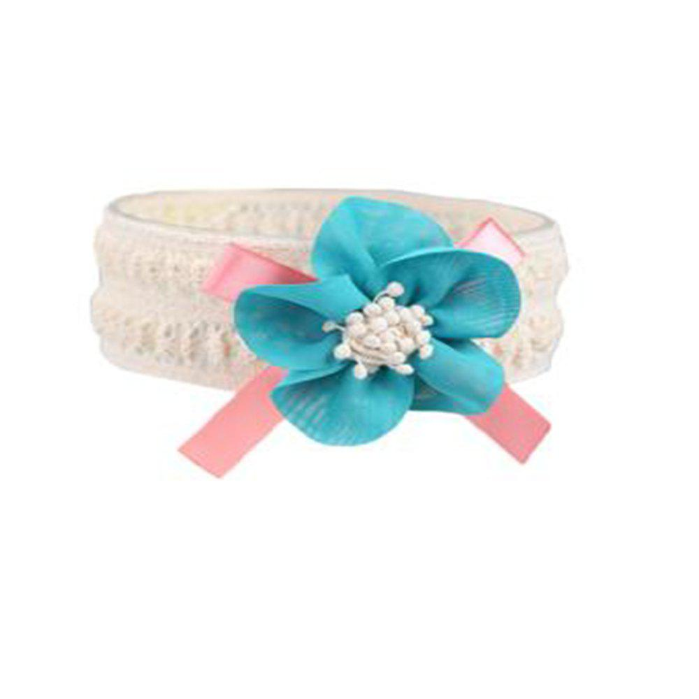 Children's Cloth Art Flowers Baby Hair Band - GREEN