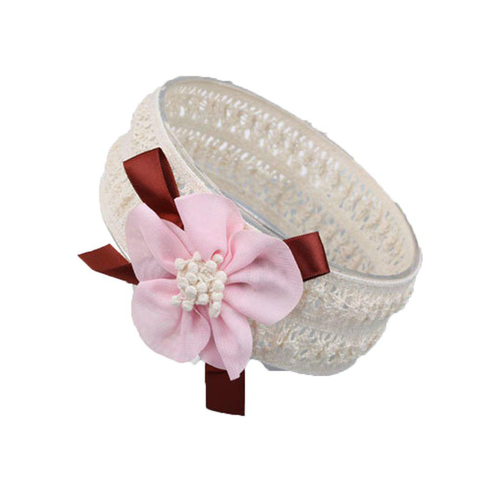 Children's Cloth Art Flowers Baby Hair Band - PINK