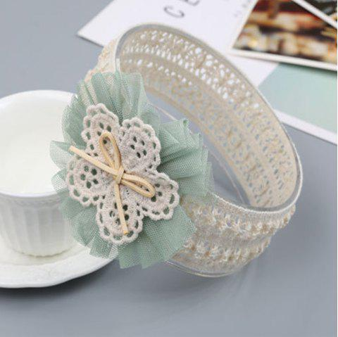 Lace Flower Children Hair Band - GREEN