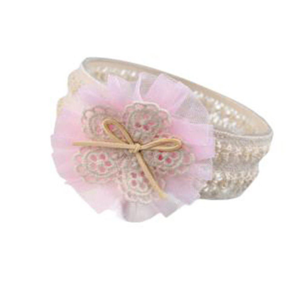 Lace Flower Children Hair Band - LIGHT PINK