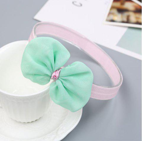 Infant Hair Decorated with Baby Hair Band - GREEN