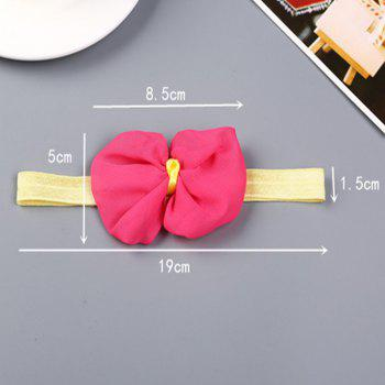 Infant Hair Decorated with Baby Hair Band -  ROSE RED