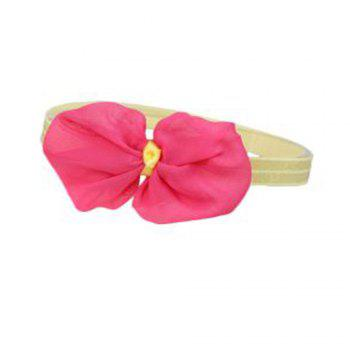 Infant Hair Decorated with Baby Hair Band - ROSE RED ROSE RED